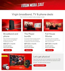 Virgin Media offers in the London catalogue