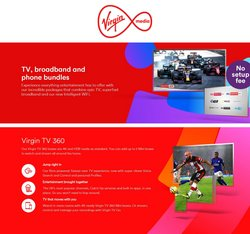 Virgin Media offers in the Virgin Media catalogue ( Expires tomorrow)