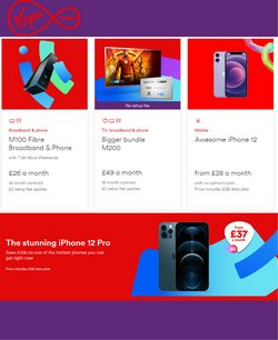Electronics offers in the Virgin Media catalogue ( 1 day ago)