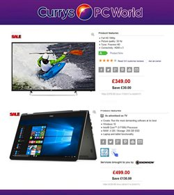 Computer offers in the PC World catalogue in Glasgow