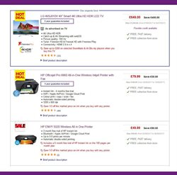 Fax offers in the PC World catalogue in London