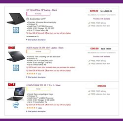 Computer hardware offers in the PC World catalogue in London