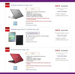 Tablet offers in the PC World catalogue in London