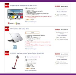 LG offers in the PC World catalogue in London