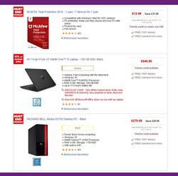Laptop offers in the PC World catalogue in London
