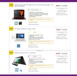 Lenovo offers in the PC World catalogue in London