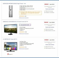 TV offers in the PC World catalogue in Cheltenham