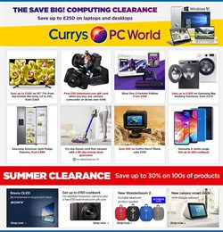 Electronics offers in the PC World catalogue in London