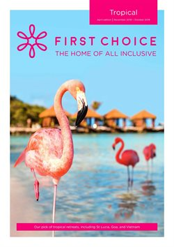 Travel offers in the First Choice catalogue in York