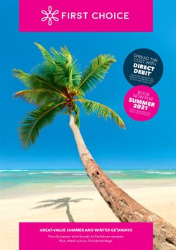 Travel offers in the First Choice catalogue in Swansea ( More than a month )