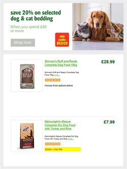 Turkey offers in the Pets at Home catalogue in London