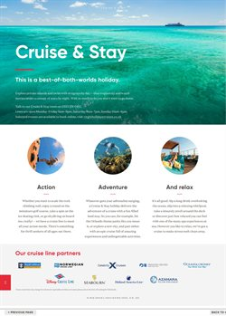 Cruises offers in the Virgin Holidays catalogue in London