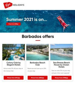 Travel offers in the Virgin Holidays catalogue in London ( 1 day ago )