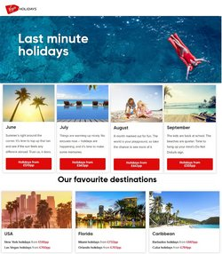 Travel offers in the Virgin Holidays catalogue ( 14 days left)
