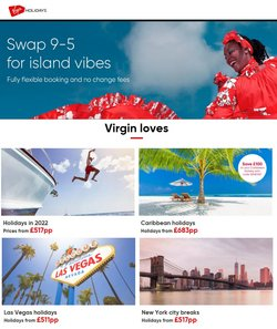 Travel offers in the Virgin Holidays catalogue ( 3 days left)