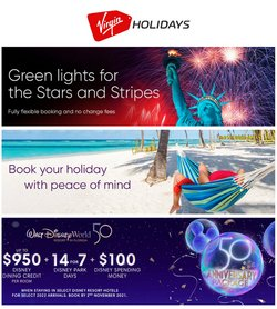 Travel offers in the Virgin Holidays catalogue ( 6 days left)
