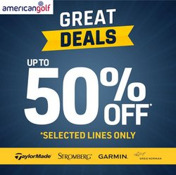 American Golf offers in the American Golf catalogue ( 9 days left)