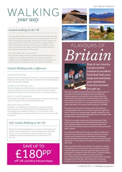 Maps offers in the HF Holidays catalogue in London