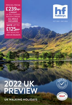 Travel offers in the HF Holidays catalogue ( More than a month)
