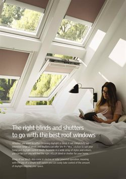 Blind offers in the Velux catalogue in London