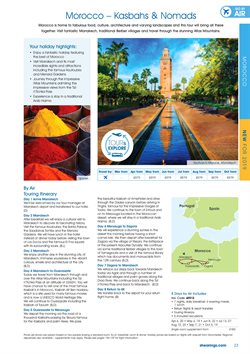 Marrakech offers in the Shearings catalogue in London
