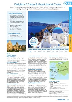 Santorini offers in the Shearings catalogue in London
