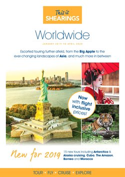 Travel offers in the Shearings catalogue in Aldershot