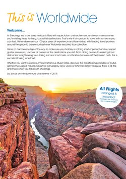 Flights offers in the Shearings catalogue in London