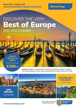 Travel offers in the Shearings catalogue ( More than a month )