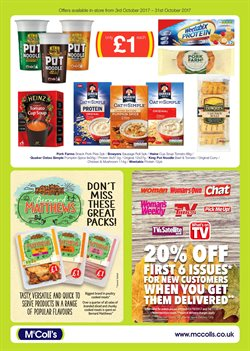Pasta offers in the McColl's catalogue in London