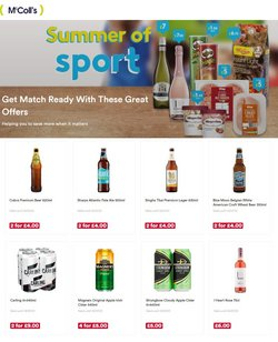 Supermarkets offers in the McColl's catalogue ( Published today)
