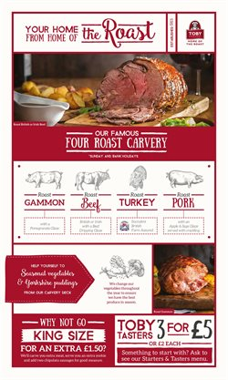 Toby Carvery offers in the Birmingham catalogue