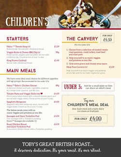 Toby Carvery offers in the London catalogue