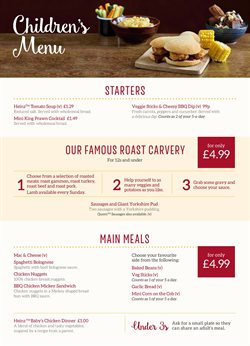 Restaurants offers in the Toby Carvery catalogue in Enfield