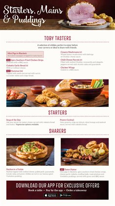 Restaurants offers in the Toby Carvery catalogue in Aberdeen