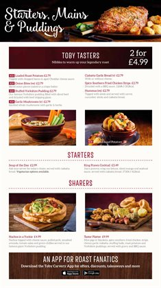 Toby Carvery catalogue ( More than a month )