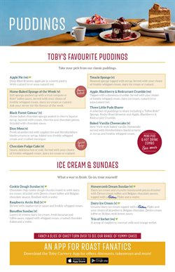 Restaurants offers in the Toby Carvery catalogue in Wallasey ( More than a month )