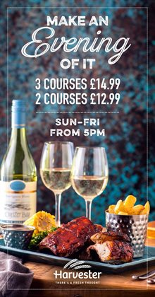 Harvester offers in the London catalogue