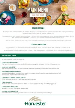 Restaurants offers in the Harvester catalogue in Newport ( More than a month )