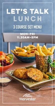 Restaurants offers in the Harvester catalogue ( 27 days left)
