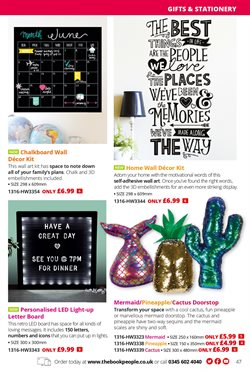 Blackboard offers in the The Book People catalogue in London