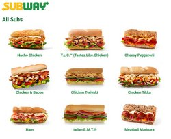 Restaurants offers in the Subway catalogue ( 28 days left)