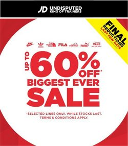 Sport offers in the JD Sports catalogue ( Expires today)