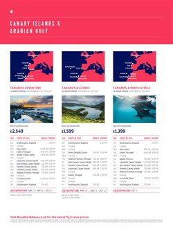 Morocco offers in the Royal Caribbean catalogue in London