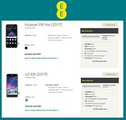 LG offers in the EE catalogue in London