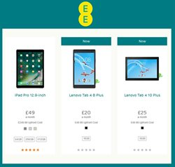 Lenovo offers in the EE catalogue in London