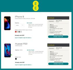 IPhone offers in the EE catalogue in London