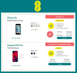 IPhone offers in the EE catalogue in Haringey