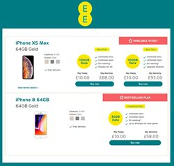 IPhone 8 offers in the EE catalogue in London