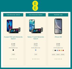 IPhone offers in the EE catalogue in Carlisle